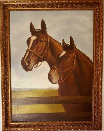 Obra de arte com cavalos