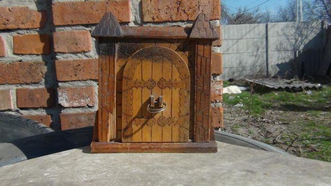 Портсигар Деревянный домик