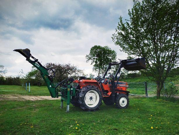 Usługi mini-traktorem Kubota koparka glebogryzarka separacyjna mulczer