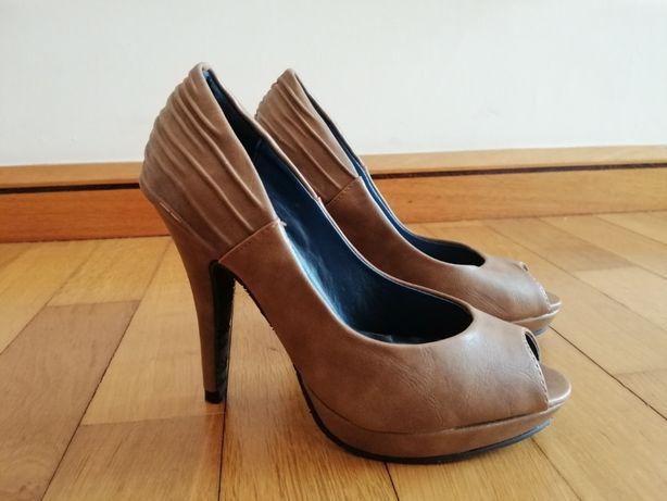 Sapato de Salto Alto [Castanho/beje]