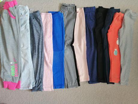 Zestaw spodni i leginsów dziewczynka 5-6 lat