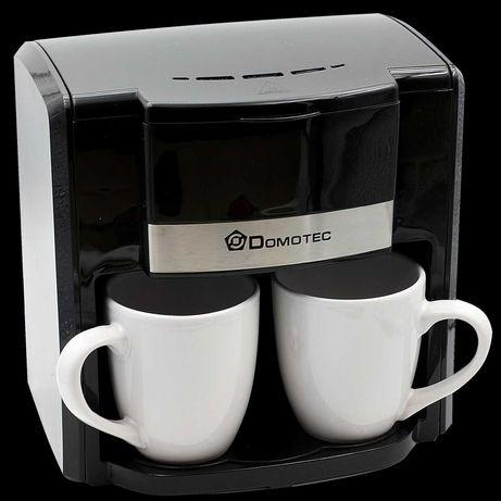 Капельная кофеварка Domotec MS-0708 на 2 чашки Black