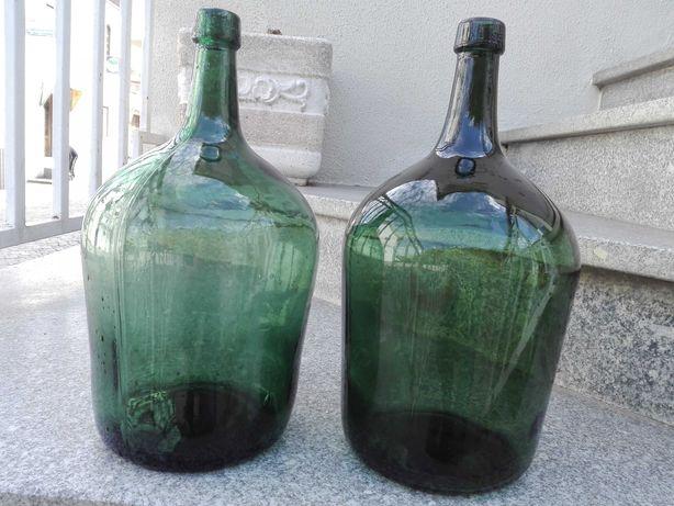 2 Garrafões de vidro 5 litros antigos