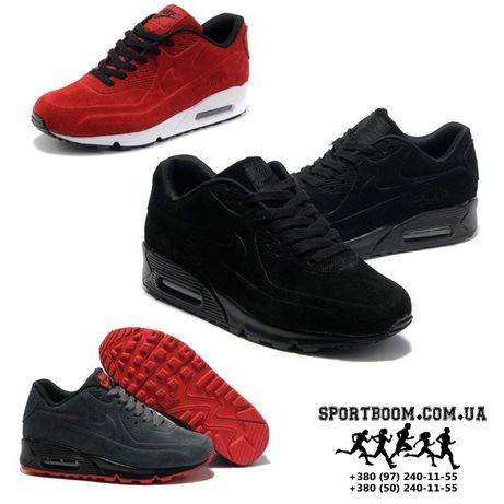 Кроссовки Nike Air Max 90 VT замшевые найк женские разные цвета