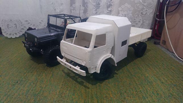 Самопал грузовик камаз на радиоуправлении 1/10 rc кастом ручная работ