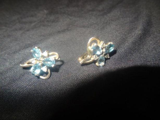 Серебряный набор (сережки с кольцом)