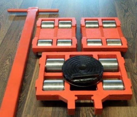 Тележка такелажная роликовая для станков оборудования 3 шт
