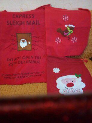 Новогодние мешки для подарков