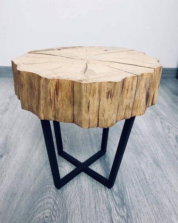 Stolik drewniany stolik z plastra nakaslik nakastlik stolik nocny