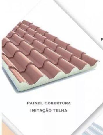 Painel Sandwich Imitação Telha 40mm