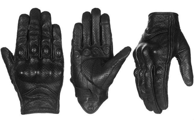 мотоперчатки кожаные с перфорацией