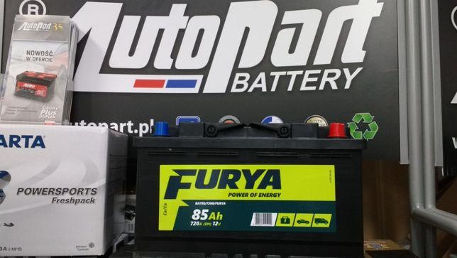 Akumulator Furya 12V 85Ah 720A Diesel Toyota Bmw Audi Vw Kraków Azory