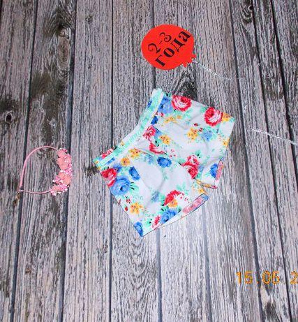 Фирменные шорты Miniclub для девочки 2-3 года, 92-98 см