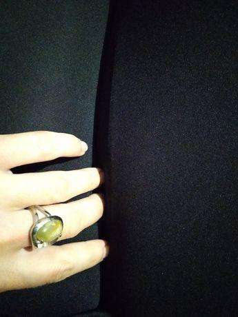 Кольцо покрытие серебро, серебряное кольцо с ониксом натуральный оникс