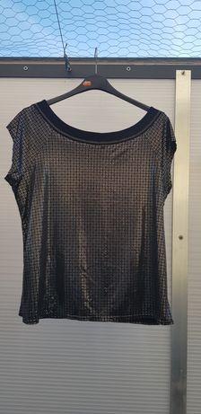 Czarna metaliczna bluzka, rozm 50
