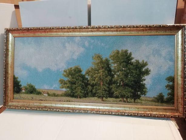 Картина гобелен, пейзаж.