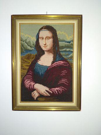 ZA BEZCEN Mona Lisa haft krzyżykowy obraz w ramce.