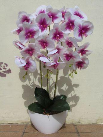 storczyk sztuczny BIAŁY RÓŻOWY storczyki sztuczne orchidea kwiaty