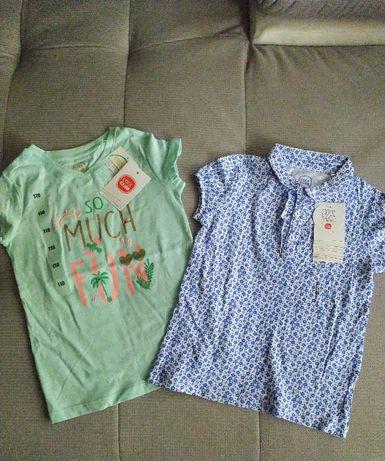 NOWE, z metkami: koszula polo i t-shirt SMYK Cool Club r. 110 KOMPLET