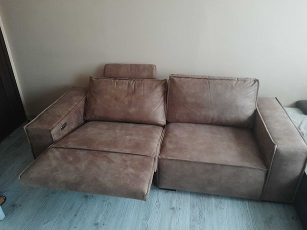 Sofa z elektryczną funkcją relaks