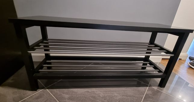 Półka na buty TJUSIG, IKEA, kolor czarny, stan bardzo dobry