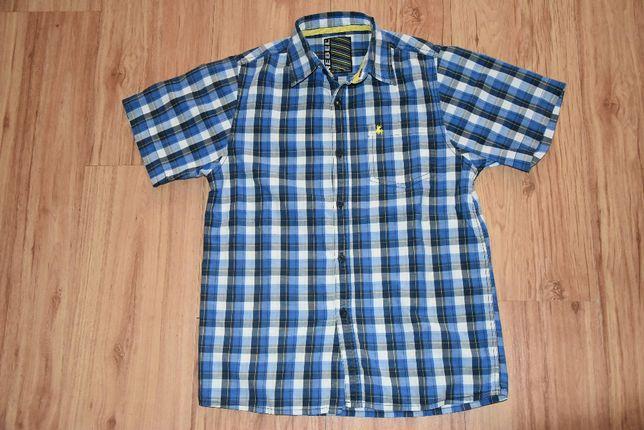 REBEL koszula chłopięca w kratkę z krótkim rękawem roz 140/146