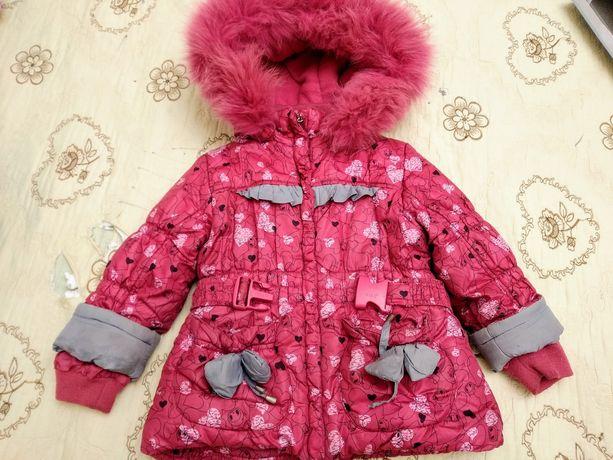 Продам зимнюю курточку Кико для девочки