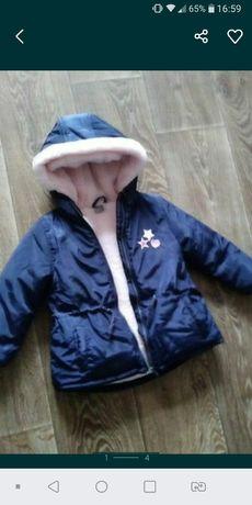 Куртка теплая для малышки новая