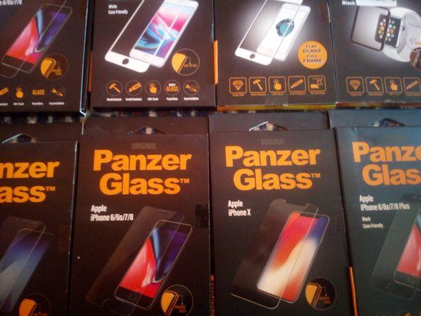 Szkła pancerne do telefonów 8 sztuk różne.