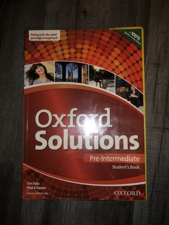 Oxford Solutions Pre-Intermediate Podręcznik Ed. 2015