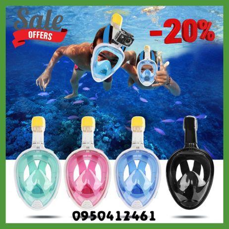 Инновационная маска для подводного плавания Easybreath / снорклинг