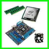 Матплата H61 LGA1155+Core i3-3220 (2 ядра 3.3 GHz) +4 GB DDR3 + Кулер