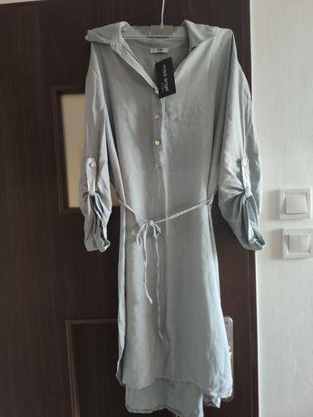 Sukienka tunika przewiewna luźny krój