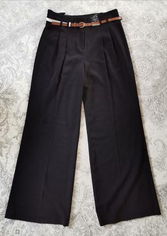 F&F eleganckie spodnie z szerokimi nogawkami rozm. L