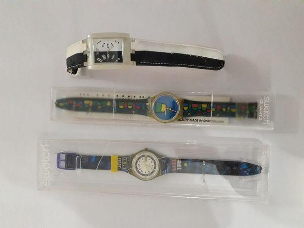 3 relógios da marca swatch