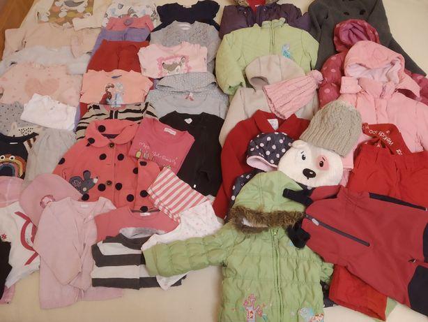Paka ubrań dla dziewczynki rozm.86-92 37 sztuk