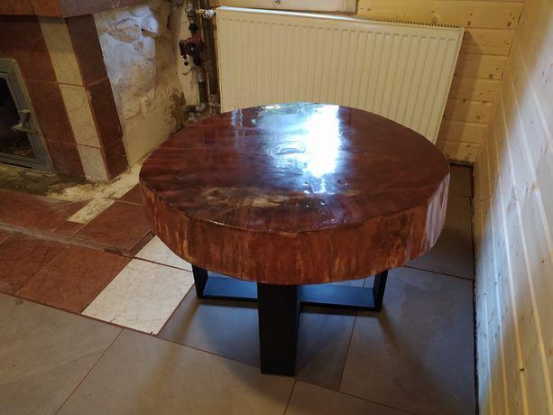 Stolik kawowy, plaster. Stolik do salonu. Stolik z drewna. Loft.