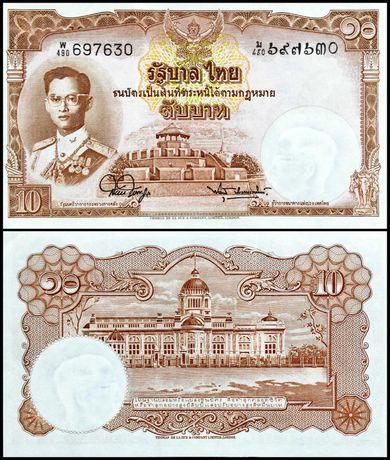 Banknot Tajlandia 10 BAHT 1953 UNC