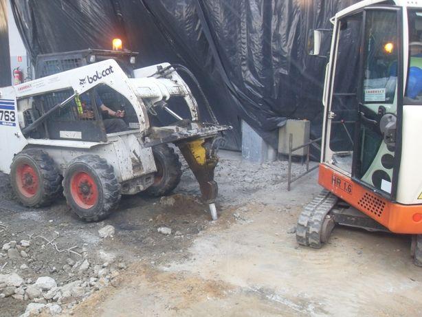 Minikoparka,kucie betonu,młot wyburzenia,wykopy,niwelacja,mini koparka