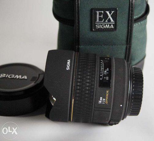 Do Canona obiektyw szerokokątny SIGMA 14mm 1:2.8 Aspherical HSM
