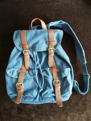 Plecak retro niebieski - morski