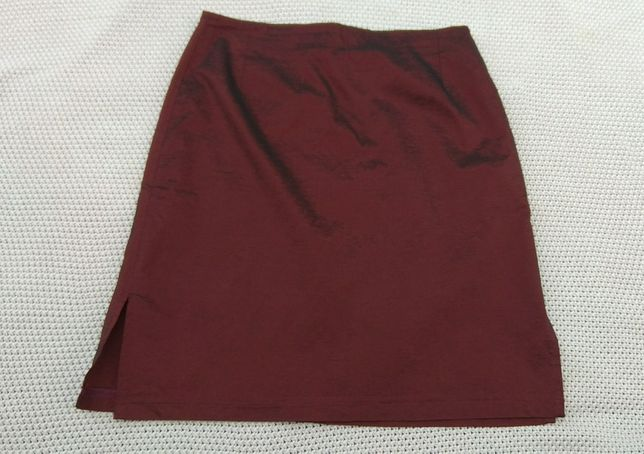 Bordowa elegancka spódnica
