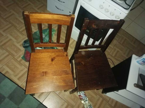 Krzesełka drewniane 4szt