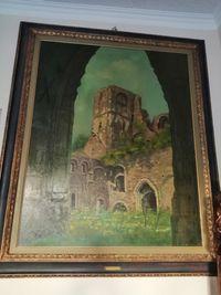Obraz olejny przedstawia ruiny Opactwa