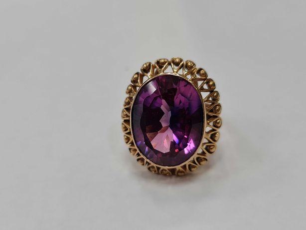 Wiekowy! Wyjątkowy złoty pierścionek/ 585/ 12.93 gram/ R17/ JPU