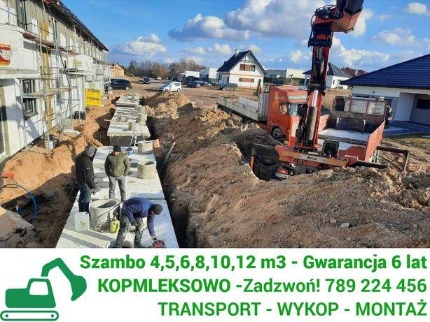 Szamba betonowe zbiorniki na szambo 4-12m z WYKOPEM kompleks Bytom