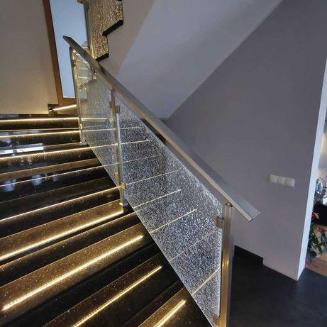 Balustrady Nowoczesne Inox lub RAL Aluminium Szkło