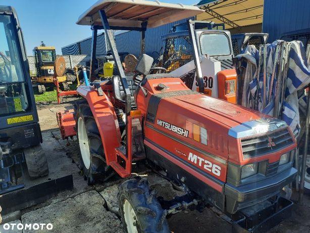 Mitsubishi Mini traktorek ciągniczek ogrodniczy sadowniczy Mitsubishi mt26 wspomaganie kubota  Traktorek japonski ciągniczek Mitsubishi 26koni ciagnik traktor