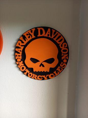 Szyld emblemat Harley Davidson Scull