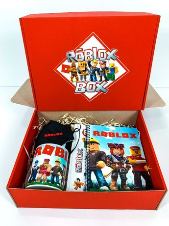 """Подарочный набор Roblox Box Роблокс Бокс """"Mini Box маска чашка блокнот"""